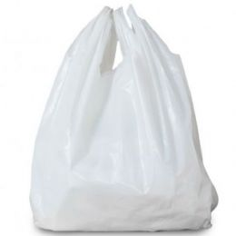 "White Plastic Vest Carrier Bags Small 11x17x21"" (279mm x 431mm x 533mm)"